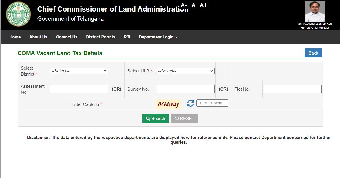 Maa-Bhoomi-Telangana-CDMA-Vacant-Land-Tax