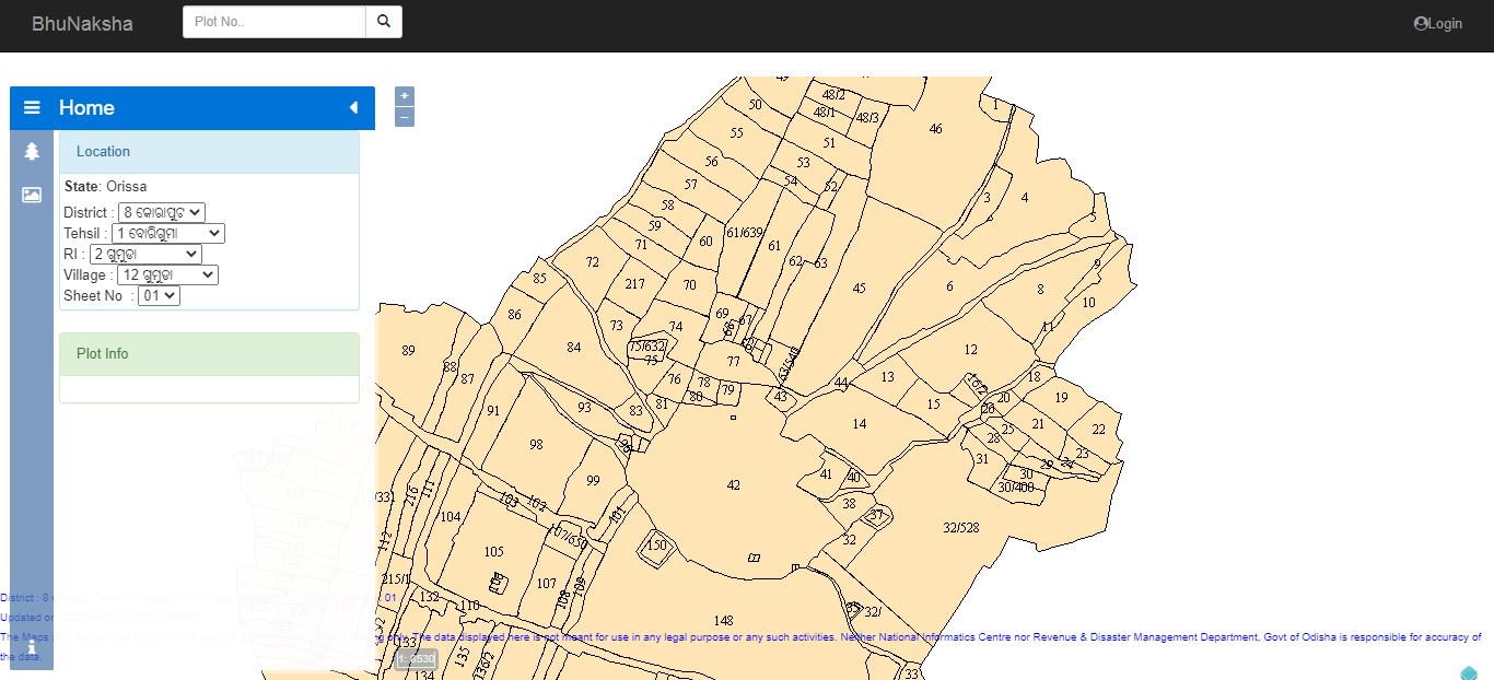 Bhunaksha-Odisha-Portal-Online-Map