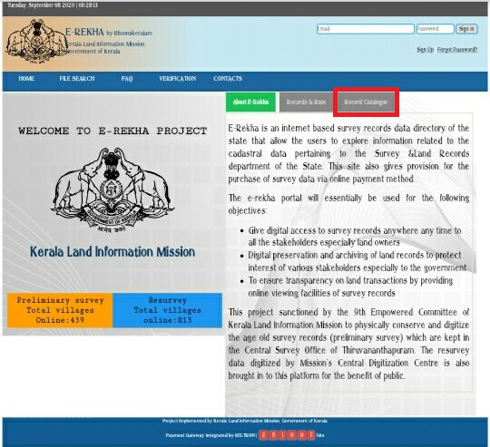 E-Rekha-Portal-Kerala