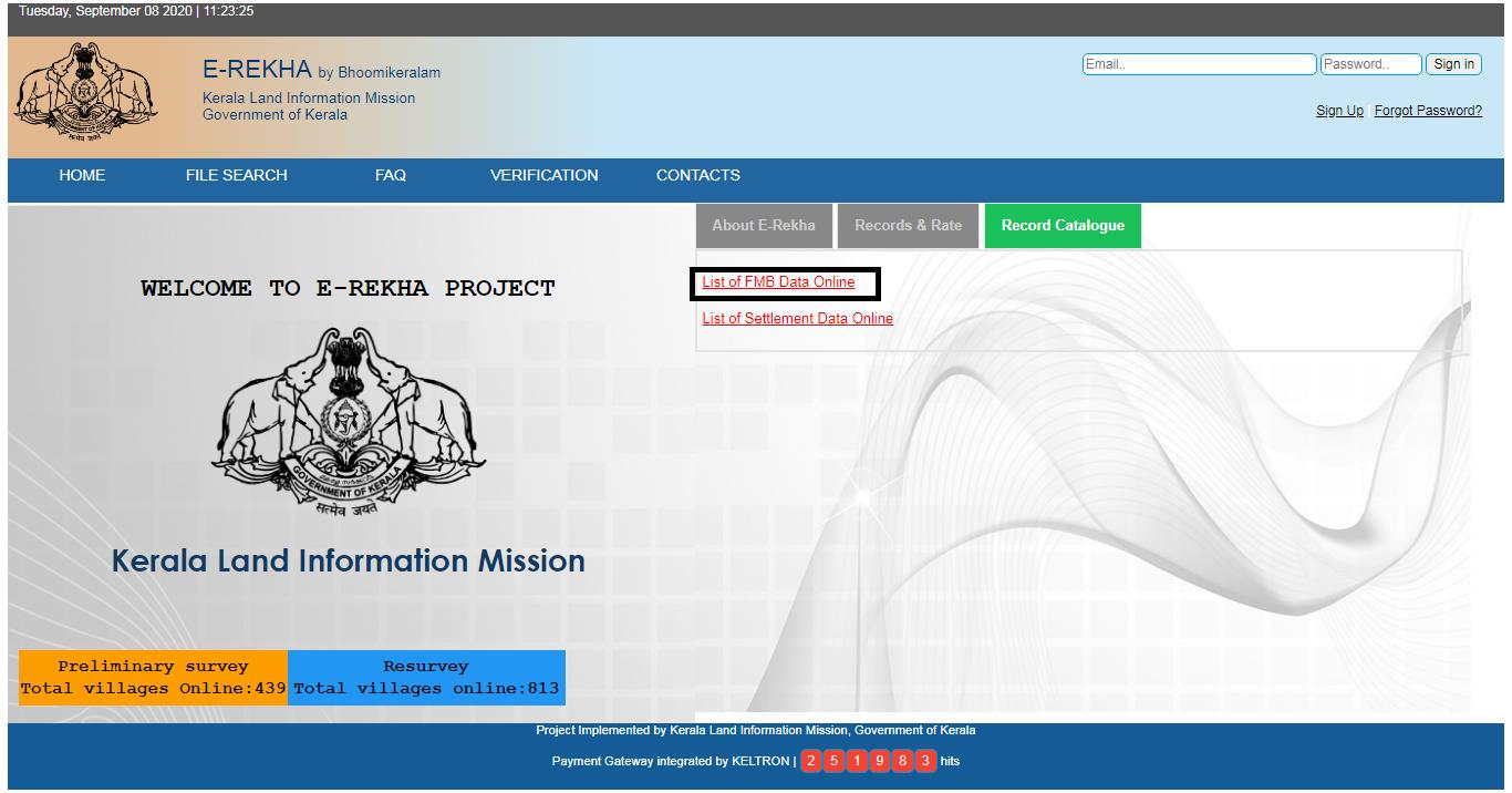 E-Rekha-FMB-Data-Online
